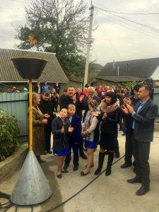 Відкриття газопроводу у селі Суржа